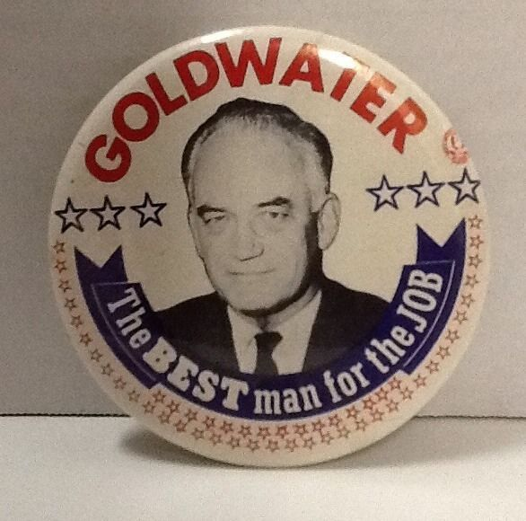 Goldwater Pin The Best Man for the Job 1964 Election Campaign Button