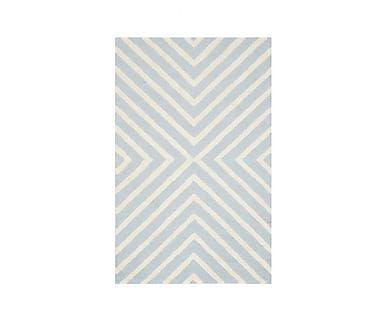 Ковер - 100% шерстяное волокно - голубой