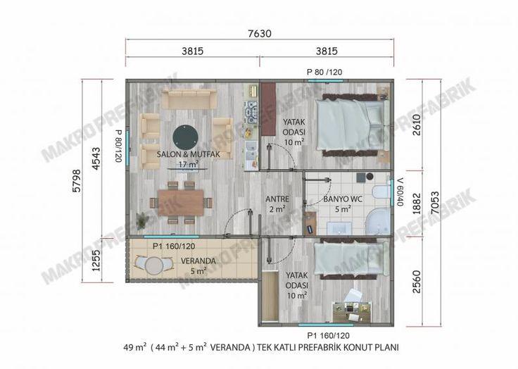 49 M² Tek Katlı Evler | Makro Prefabrik