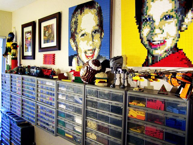 Actually, I'd like Lego portraits of everyone.- my vanity, and obsession to make things look awesome, would compel me to have portraits done to go with a Lego room.
