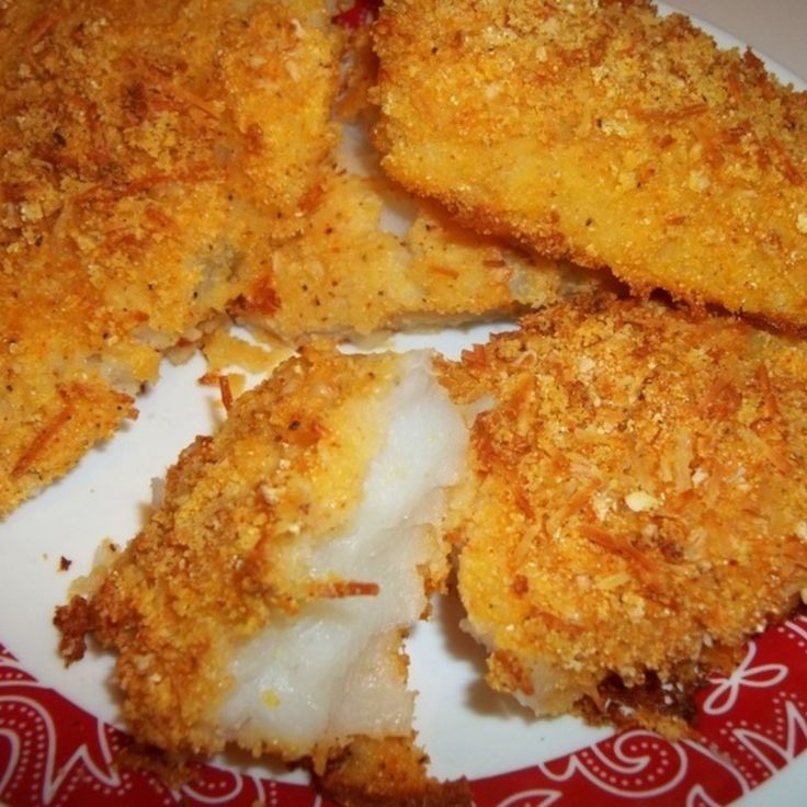 Delicious Oven Fried Cod Recipe | Just A Pinch Recipes - Leave out the onion and garlic salt to make low fodmap.