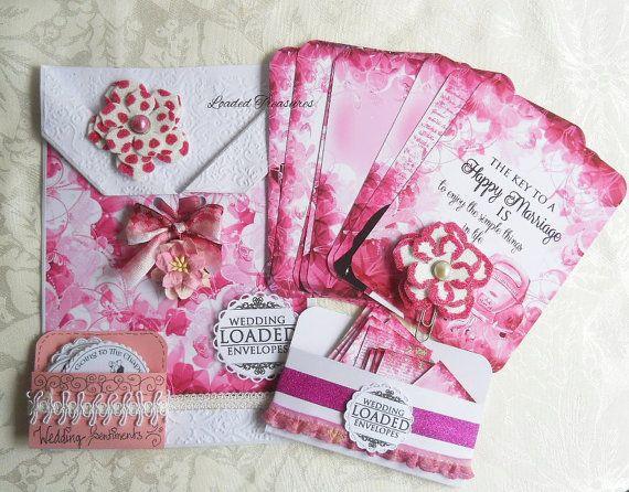 LOADED ENVELOPE PINK  Handmade Wedding Pink by LoadedTreasures
