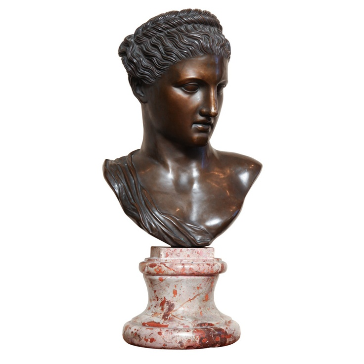Cyrene, wife of Ptolemy III,King of Egypt 19th century Neo-classical Bronze Bust