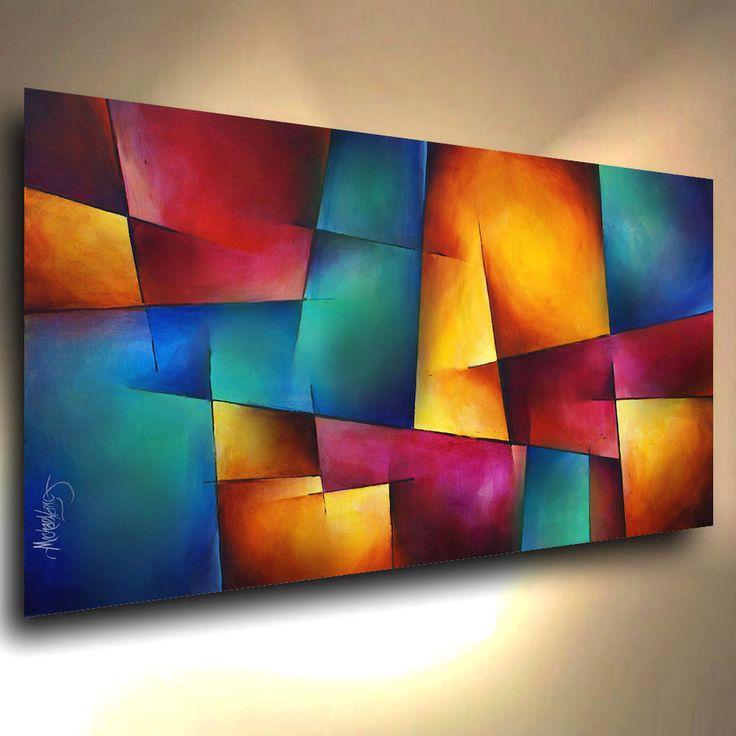 ART ABSTRACT PAINTING MODERN Contemporary DECOR Michael Lang certified original