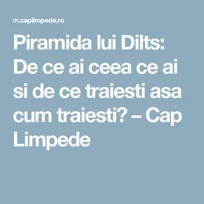 Piramida lui Dilts: De ce ai ceea ce ai si de ce traiesti asa cum traiesti? – Cap Limpede