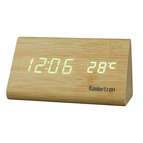 Koolertron - Réveil Numérique Tableau LED Contrôle de Voix Bois Brun , Affichage de la Température Calendrier,USB Powered Koolertron http://www.amazon.fr/dp/B00PU87596/ref=cm_sw_r_pi_dp_k5O2ub0HAYWV8