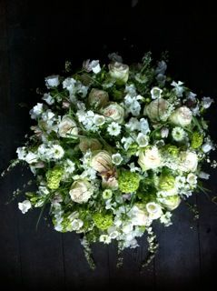 Funeral white flowers