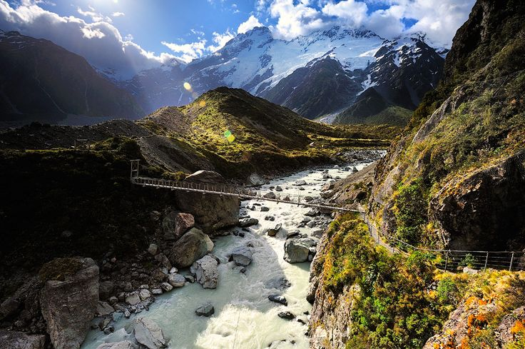 Aoraki Mount Cook National Park (Te Wahipounamu), New ZealandNational Parks, Newzealand, Mount Cooking, The Bridges,  Vale, Travel Photography, Landscapes Photography, New Zealand, Heavens