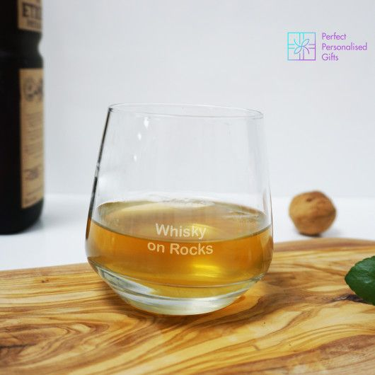 Short Tumbler Glass.  Wanting a gift for the whisky lover in the family? Or know someone who enjoys a little drink after their meal. This small tumbler glass is the perfect gift!    Being the perfect size for a shot or two of their favourite alcohol and fully personalised with up to three lines of text, what is not to love?