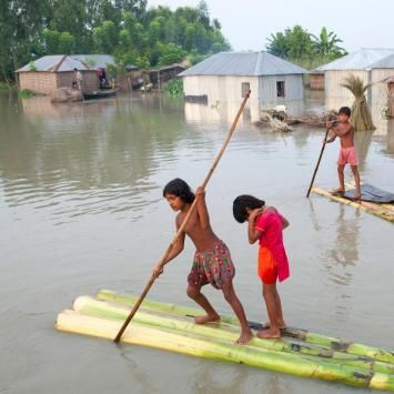 Bangladesh Floods, August 2016    Bangladesh was heavily hit by flooding during the monsoon season with continuous rain for most of July and August. The water level reached dangerous levels quickly, causing widespread flooding and damage to infrastructure in 19 districts. More than 3.7 million people have been affected in what is the worst flooding to hit the country in almost 20 years.