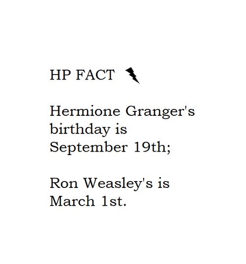 HAPPY BDAY HERMIONE! TODAY IS THE DAY OF HERMIONES BIRTHDAY WOOT WOOT WOOT YOYOYO ALL LISTEN UP TODAYS HERMIONES BIRTHDAY!!!!!!! YOUR AWESOME HERMIONE!!!! YOUR BRILLIANT AND FUNNY AND BRAVE!!!!! HAPPY BIRTHDAY SEP 1 WHICH IS TODAY YAY HERMIONE YOUR ONE YEAR OLDER AND WISER IF THAT POSSIBLE (THE WISER NOT OLDER) YOU ROCK MY WORLD HAPPY BIRTHDAY!!!!!!!!