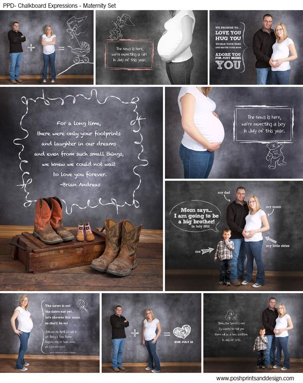 Chalkboard Expressions Maternity Photo Template Overlays And Brushes Boyswear Pictures Photography Templates