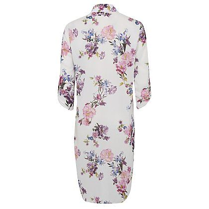 Longline Floral Zip-up Shirt | Women | George at ASDA