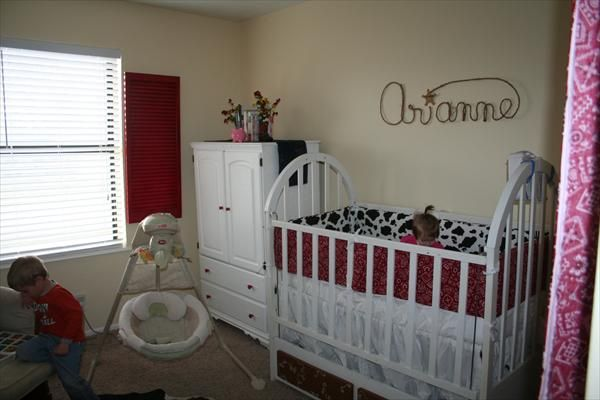 Google Image Result for http://ugc.theknot.com/696229-large.jpg: Red Shutters,  Cots, Google Image, Baby Ideas, Image Results, Cowgirl, Cribs, Baby Rooms, Photo