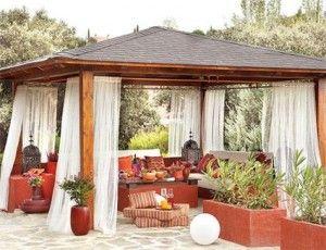 Cenador de madera para terrazas