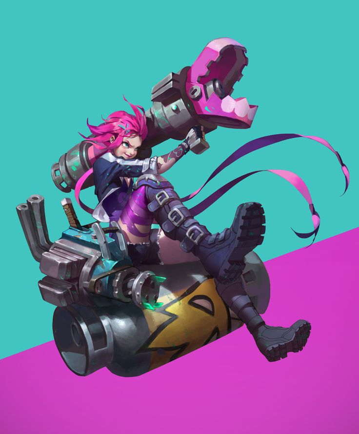 JINX, Cargaret Chan on ArtStation at https://www.artstation.com/artwork/nNBq4