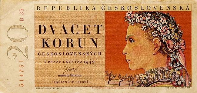 Banknote, Czechoslovakia