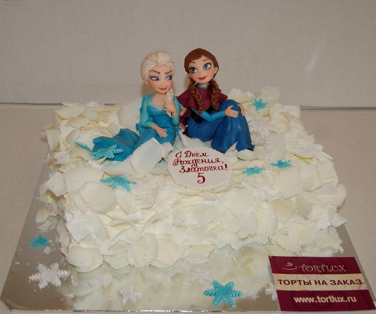 """Детский торт на тему фильма""""Холодное сердце"""".Вес 3 кг."""