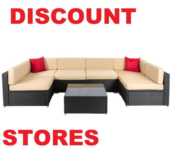 Patio Garden Furniture Durable Sofa Set Outdoor Relax 7 Piece Aluminum Frame NEW #PatioGardenFurnitureDurableSofaSet