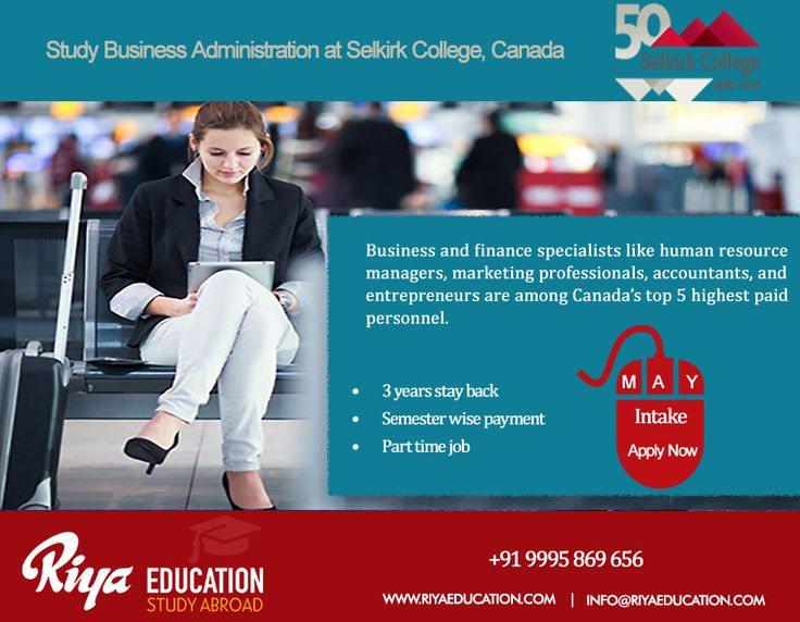 Study Business Administration at Selkirk College, Canada. Apply now for May Intake!!! Visit our website for details.