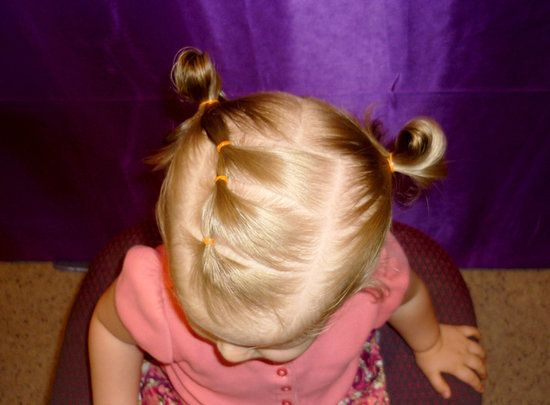 "Elastic ""Braid"" Pigtails: If you don't have the time (or talent) to make a braid, try this simple trick."