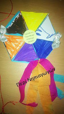 """""""ΠΕΡΙ... ΝΗΠΙΑΓΩΓΩΝ"""" : Τριγωνάκι εσύ, τριγωνάκι εγώ, φτιάξαμε χαρταετό"""