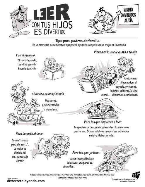 lee con tus hijos!!! póster sobre el fomento de la lectura