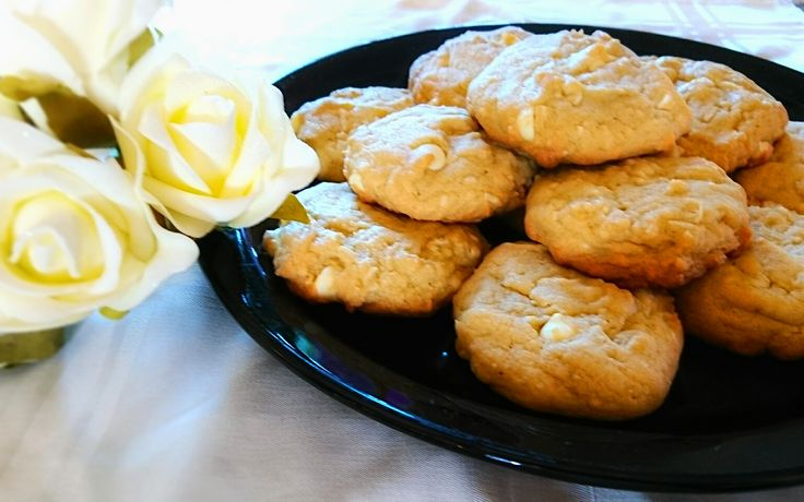 This is one of my favourite cookie recipes. It has the perfect combination of soft, chewy, and crispy. The coconut goes perfectly with white chocolate.