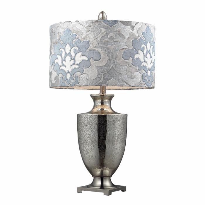 Chic antiqued mercury glass langham table lamp i love mercury glass
