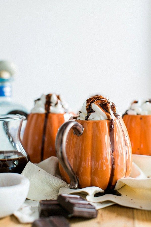 Spiked Mexican Hot Chocolate for Halloween