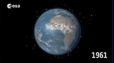 .  6300 tons of debris that flies around the Earth =  GIF