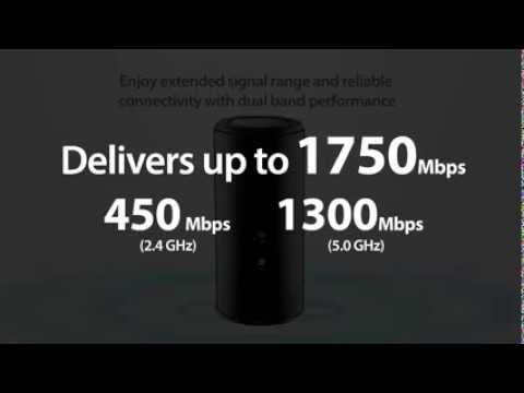 D-Link Wireless 802.11ac (1750Mbps) Dual Band Cloud Router