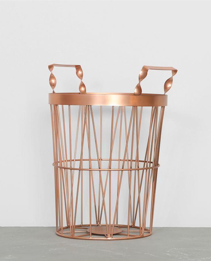 Panier métallique - Design et graphique, le panier métallique se transforme aussi en ra...