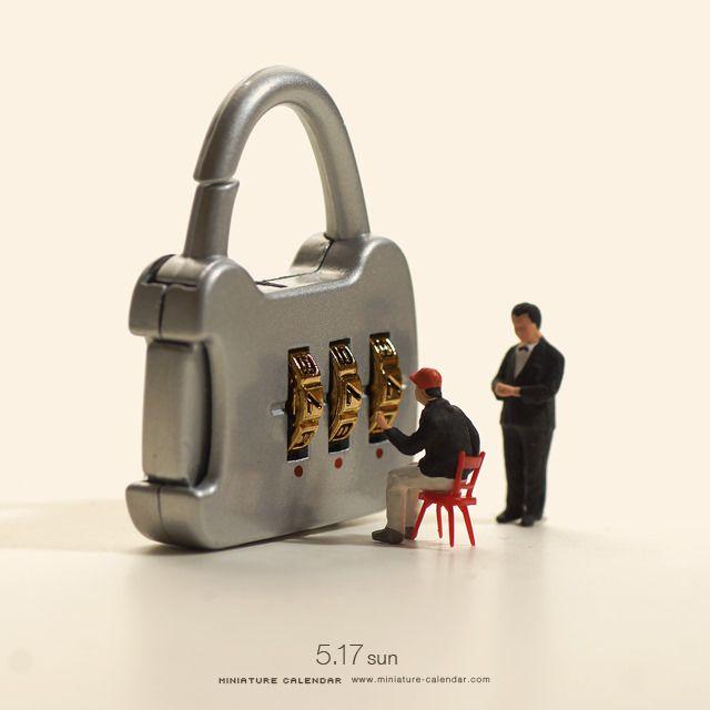 Slot machine. Miniature photography