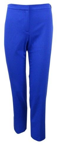 Calvin Klein Women's Petite Highline Tapered Ankle Pants (10P, Electric Blue)