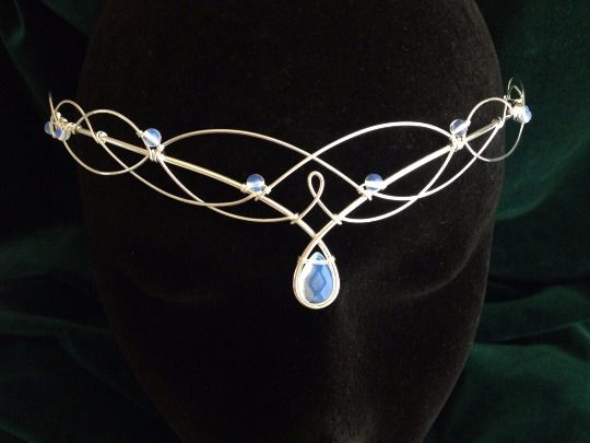 Moonstone Circlet Elven Headpiece Medieval Headdress Wedding Tiara    | eBay