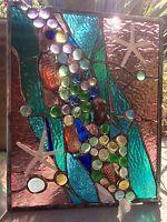 Stained Glass Window Tropical Starfish Sea Shell  Beach Suncatcher Sail Panel