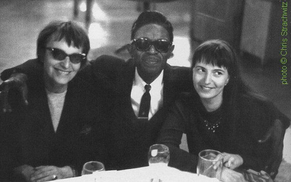 Stephanie Wiesand, Lightnin' Hopkins, Evelyn Parth, Munich, Germany, 1964; source: Alan Govenar: Lightnin' Hopkins - His Life and Blues.- Chicago (Chicago Review Press) 2010, unpaginated photo pages between pp. 178 & 179; photographer: Chris Strachwitz