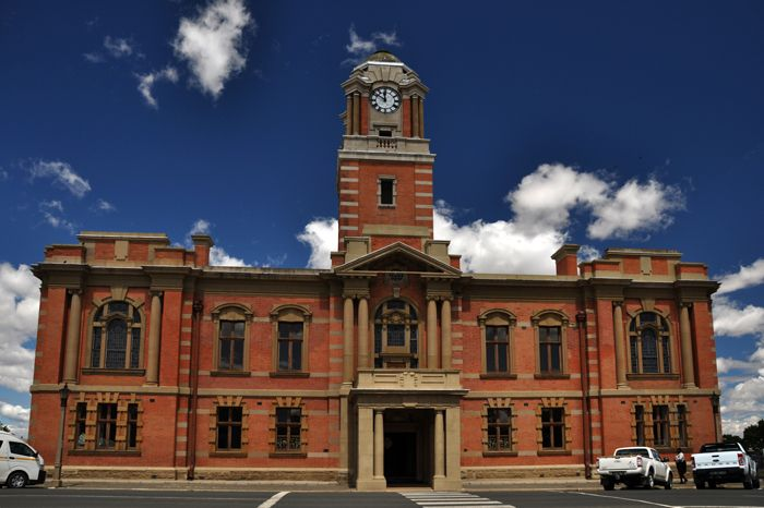 The town hall in Harrismith, Free State, South Africa by Anita Cruywagen Photography