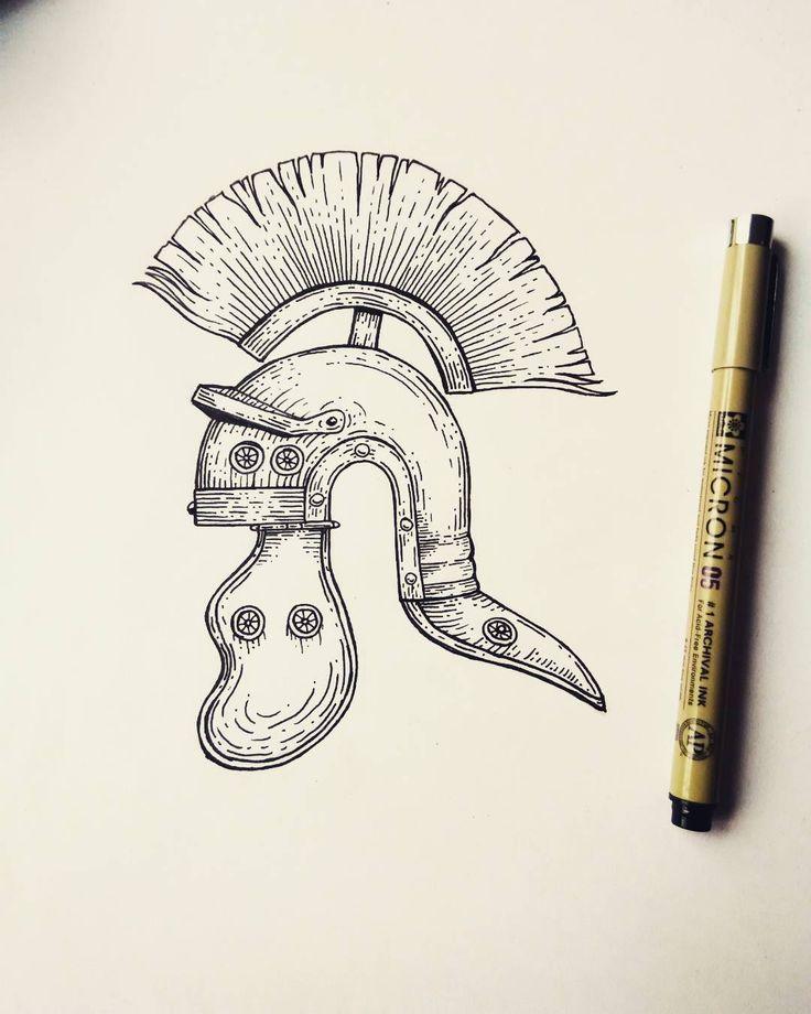 Fresh WTFDotworkTattoo Find Fresh from the Web Roman centurion tattoo design #drawing #sketching #doodling #illustration #linework #dotwork #engraving #woodcut #blackandwhite #black #ink #pen #tattoo #tattoodesign #design #roman #empire #centurion #helmet #mohawk #history #ancient #rome #czech ravenfromthenorth WTFDotWorkTattoo