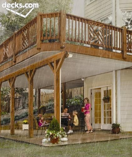 underdecking to keep the patio dry when it rains.