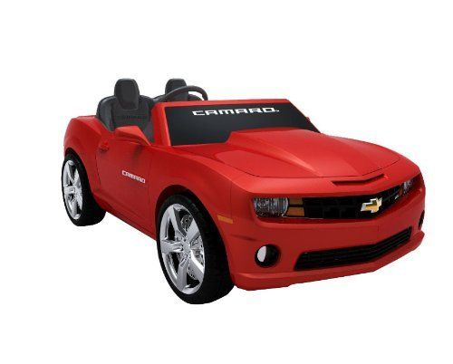 National Products 12 Chevrolet Camaro Ride-on (Red) by Golden Wheel - Fun Creation Inc. dba National Products Ltd. (Drop Ship Ordering Code). $426.27. 2 forward speeds (2.5  and 5.0 MPH) plus 1 reverse (2.5 MPH). Realistic car sound effects. 12V battery and charger are included. Working FM radio,  MP3 plug-in with speaker. Officially licensed Chevrolet Camaro. Amazon.com                 Your kids will be the envy of the block riding in the National Products Chevrolet C...