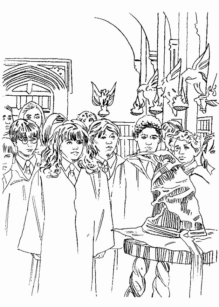 32 harry potter adult coloring book in 2020   rysunki
