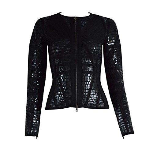 Meilun Women's Rayon Long Sleeve Sheath 2 Pcs Foil Bandage Bodycon Dress Black - http://bigboutique.tk/product/meilun-womens-rayon-long-sleeve-sheath-2-pcs-foil-bandage-bodycon-dress-black/