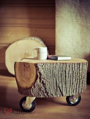 make a stool (add fur rug) and Side table for next to bed both with industrial size casters for Jakes Room