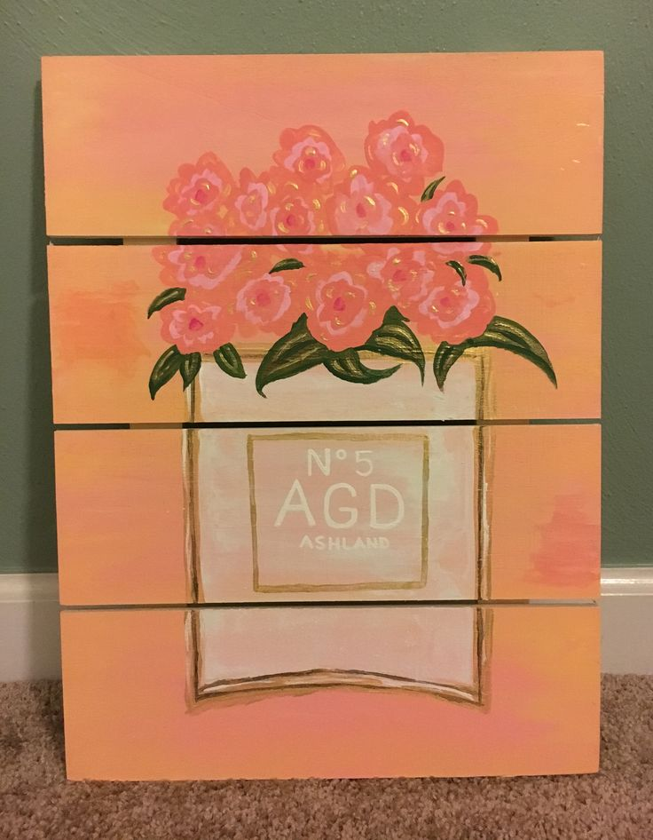 chanel, perfume, art, crafts, canvas, painting, sorority, agd, alpha, gamma, delta