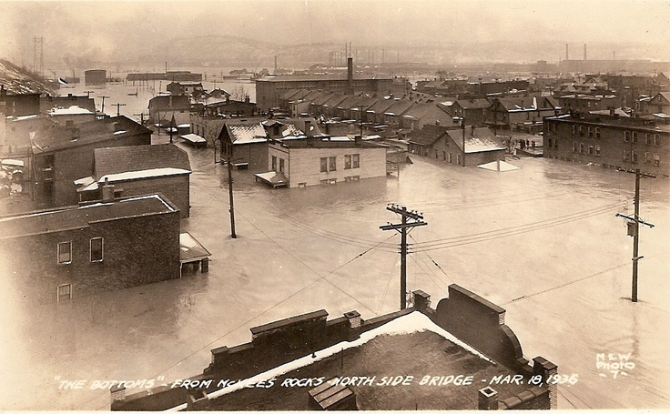 1936 Flood Quot The Bottoms Quot Mckees Rocks Pa Johnstown