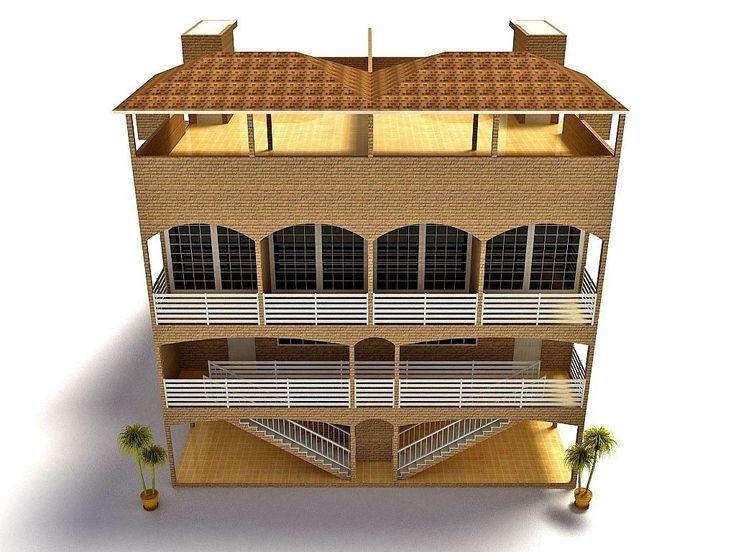 Дизайн экстерьера - отель с бассейном 05