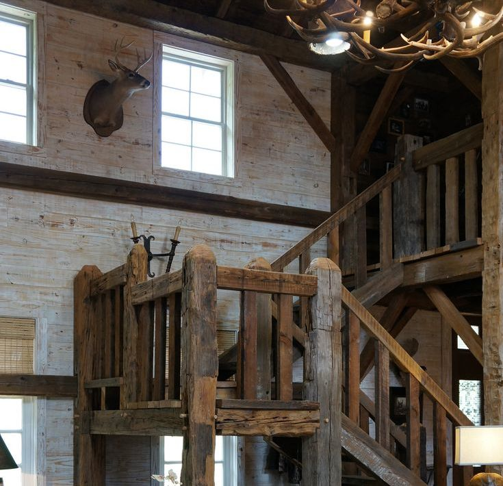 Best Barn Beam Staircase Barn Living Rustic Stairs Barn House 640 x 480
