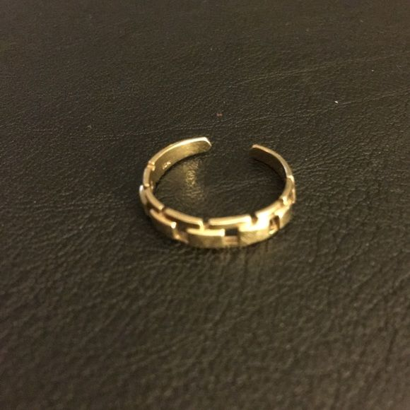 14K Yellow Gold Toe Ring 14K Yellow Gold Toe Ring, adjustable in size can also be worn as a midi ring. ➡️FIRM ON PRICE⬅️ Jewelry Rings